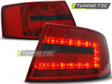 Zadné l'ad svetlá Audi A6 C6 sedan 04-04-08, červená kouřová