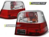 Zadné svetlá VW Golf 4 09-97-09-03 červená bílá