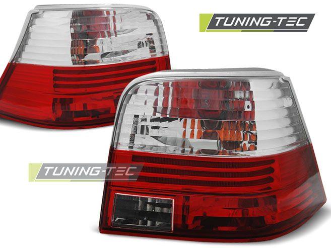 Zadné svetlá VW Golf 4 09-97-09-03 červená bílá TUNINGTEC