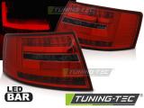 Zadné l'ad svetla Audi A6 C6 sedan 04 / 04-08 7kolíkový červená kouřová