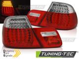 Zadné l'ad svetla BMW E46 04/99-03/03 coupe červená bílá