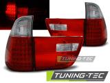 Zadné l'ad svetla BMW X5 E53 09/99-06 červená bílá
