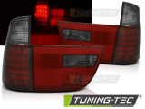 Zadné l'ad svetla BMW X5 E53 09/99-06 červená kouřová