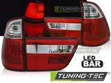 Zadné l'ad svetla BMW X5 E53 09/99-10/03 červená bílá