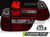 Zadné l'ad svetla BMW X5 E53 09/99-10/03 červená kouřová