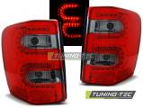 Zadné l'ad svetla Chrysler jeep Grand Cherokee 99-05,05 červená kouřová  led