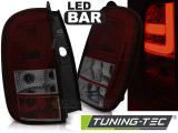 Zadné l'ad svetla Dacia Duster 04/10- led bar červená kouřová