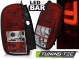 Zadné l'ad svetla Dacia Duster 04/10- led bar červená bílá