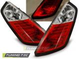 Zadné l'ad svetla Fiat Grande Punto 09/05-09 červená bílá led