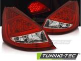 Zadné l'ad svetla Ford Fiesta MK7 08-12 HB červená bílá led