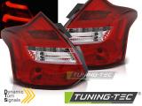 Zadné la'd svetlá Ford Focus 3 11-10/14 hatchback červená bílá led bar SEQ IND.