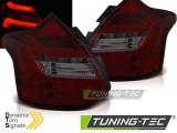Zadné la'd svetlá Ford Focus 3 11-10/14 hatchback červená kouřová led bar SEQ IND.