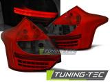 Zadné la'd svetlá Ford Focus 3 11-10/14 hatchback červená kouřová led