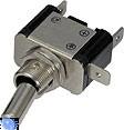 Vypínač kovový 12mm 25A / 12V s modrou LED - on / off