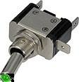 Vypínač kovový 12mm 25A / 12V so zelenou LED - on / off