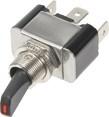 Vypínač kovový 12mm 30A / 12V s červenou LED - on / off