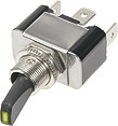 Vypínač kovový 12mm 30A / 12V so zelenou LED - on / off