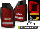 Zadná l'ad svetlá VW T5 04/03-09 červená bílá led bar SEQ