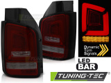 Zadná l'ad svetlá VW T5 04/03-09 červená kouřová led bar SEQ