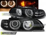 Predné svetlá BMW E39 09/95-06/03 Angel Eyes černá led