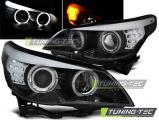 Predné svetlá BMW E60/E61 03-07 Angel Eyes černá led