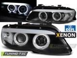 Predné svetlá BMW X5 E53 03/11-06 Angel Eyes CCFL černá xenon