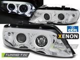 Predné svetlá BMW X5 E53 03/11-06 Angel Eyes CCFL chrom xenon