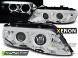 Predné svetlá BMW X5 E53 03/11-06 Angel Eyes chrom xenon