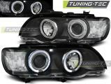 Predné svetlá BMW X5 E53 09/99-10/03 Angel Eyes černá