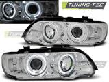 Predné svetlá BMW X5 E53 09/99-10/03 Angel Eyes chrom