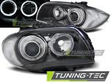Predné svetlá BMW 1 E87/E81/82/88 04-11 Angel Eyes šedá