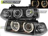 Predné svetlá BMW E36 12,90-08,99 C/C Angel Eyes černá