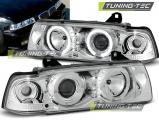 Predné svetlá BMW E36 12,90-08,99 C/C Angel Eyes chrom