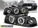 Predné svetlá BMW E36 12,90-08,99 S/C/T Angel Eyes černá