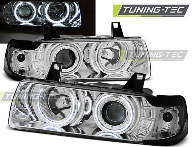 Predné svetlá BMW E36 12,90-08,99 S/C/T Angel Eyes CCFL chrom TUNINGTEC