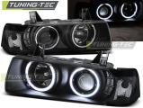 Predné svetlá BMW E36 12,90-08,99 S/C/T Angel Eyes CCFL černá