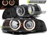 Predné svetlá BMW E38 06/94-08/98 Angel Eyes černá