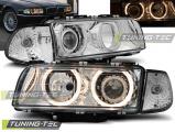 Predné svetlá BMW E38 06/94-08/98  Angel Eyes chrom