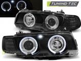 Predné svetlá BMW E38 09/98-07/01 Angel Eyes černá
