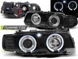 Predné svetlá BMW E38 09/98-07/01 Angel Eyes černá xenon