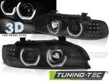 Predné svetlá BMW E39 09/95-06/03 Angel Eyes 3D černá