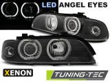 Predné svetlá BMW E39 09/95-06/03 Angel Eyes černá led xenon