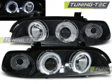 Predné svetlá BMW E39 09/95-06/03 Angel Eyes černá