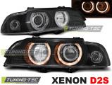 Predné svetlá BMW E39 09/95-06/03 Angel Eyes černá xenon