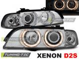 Predné svetlá BMW E39 09/95-06/03 Angel Eyes chrome xenon