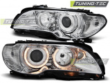 Predné svetlá BMW E46 03/04-06 coupe cabrio Angel Eyes chrom