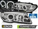 Predné svetlá BMW E46 03/04-06 coupe cabrio Angel Eyes CCFL chrom xenon
