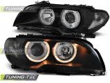Predné svetlá BMW E46 03/04-06 coupe cabrio Angel Eyes černá