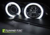 Predné svetlá BMW E46 04/03-06 coupe cabrio Angel Eyes CCFL černá TUNINGTEC