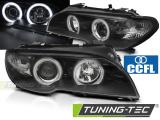 Predné svetlá BMW E46 04/03-06 coupe cabrio Angel Eyes CCFL černá